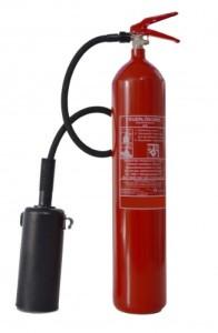 2 5kg CO2 Kohlendioxid Feuerlöscher, DIN, EN 3, inkl. Wandhalter