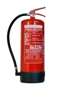 12 KG ABC Pulver Feuerlöscher + ANDRIS® DIN Piktogramme und Instandhaltungsnachweise mit Jahresmarke