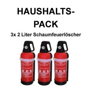 3 3x Fettbrandlöscher für den Haushalt ninus ABF Feuerlöscher Schaum