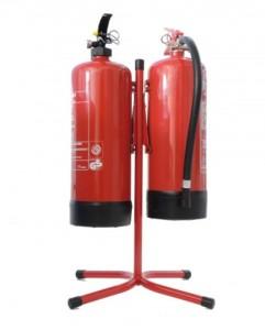 Feuerlöscher Ständer für zwei Geräte