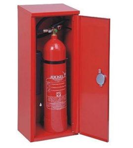 Feuerloescher Schutzschrank und Schutzkasten